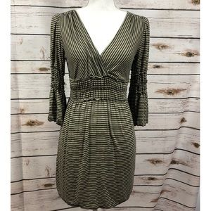 Max Studio smocked bell sleeve dress